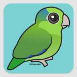 Green Pacific Parrotlet Square Sticker