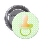Green Pacifier Buttons