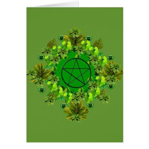 Green Pagan Card
