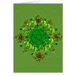 Green Pagan Greeting Card