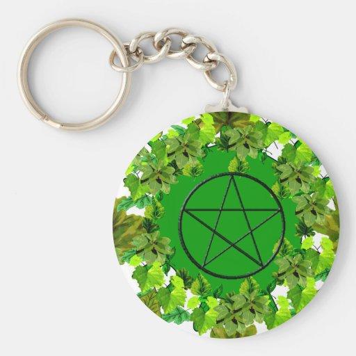 Green Pagan Key Chain