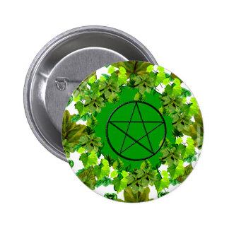 Green Pagan Pinback Button