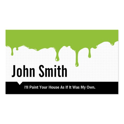 House painter business card templates page3 bizcardstudio green paint dripping painting business card flashek Image collections