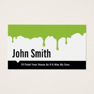 Green Paint Dripping Painting business card