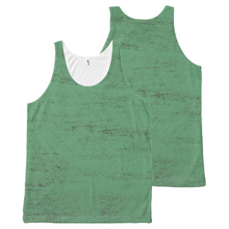 green paint grunge texture background All-Over-Print tank top