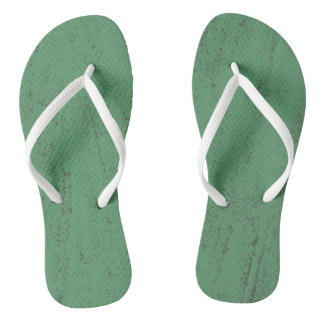 green paint grunge texture background flip flops