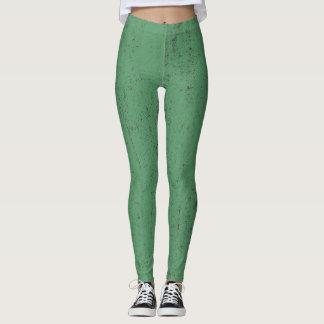 green paint grunge texture background leggings