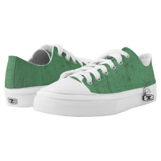 green paint grunge texture background Low-Top sneakers