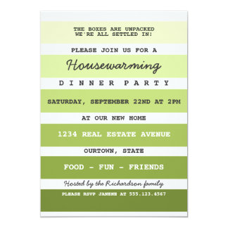 Green Paint Sample Housewarming Party Card