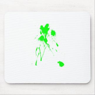 Green paint splatter mousepad