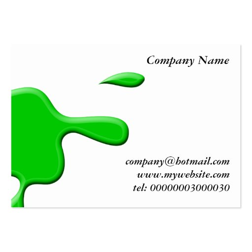 Green Paint Splodge Large Business Card