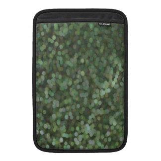 Green Painted Glitter Shimmer MacBook Sleeve