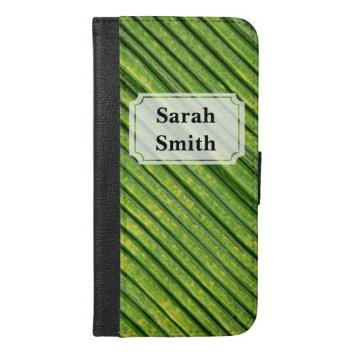 Green Painted Texture iPhone 6/6s Plus Wallet Case