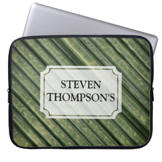 green Painted Texture Laptop Sleeve