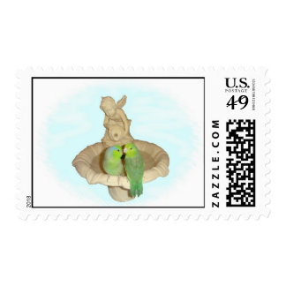 Green pair postage stamp
