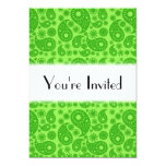 Green Paisley. 5x7 Paper Invitation Card