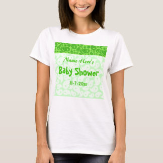 Green Paisley Baby Shower T-Shirt