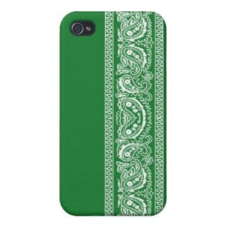 Green Paisley Bandana iPhone 4 Case