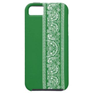 Green Paisley Bandana iPhone 5 Case