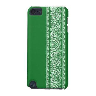 Green Paisley Bandana iPod Touch Case