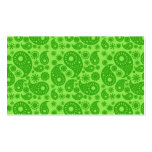 Green Paisley. Double-Sided Standard Business Cards (Pack Of 100)