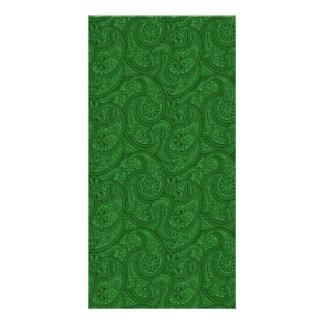 Green Paisley Card
