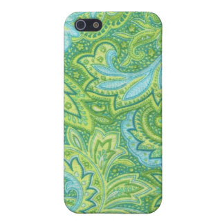Green Paisley Cover For iPhone SE/5/5s