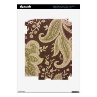 Green Paisley Decals For iPad 3