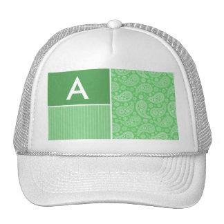 Green Paisley Mesh Hats