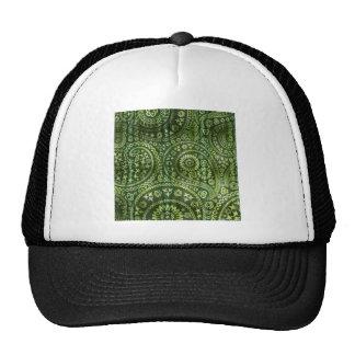 Green Paisley Hats
