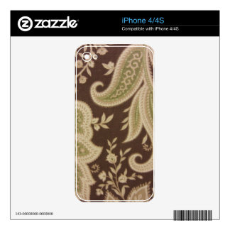 Green Paisley iPhone 4 Decals