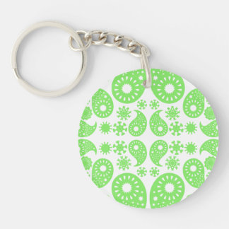 Green Paisley Key Chain