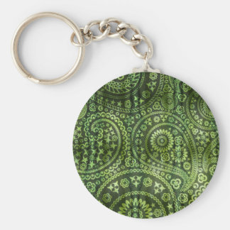Green Paisley Keychains