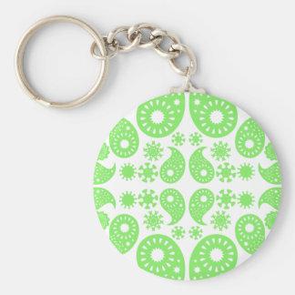Green Paisley Keychain