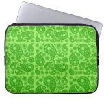 Green Paisley. Laptop Computer Sleeves