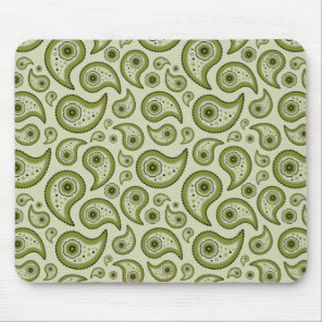 Green Paisley Mouse Pad