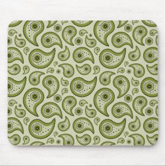 Green Paisley Mousepad