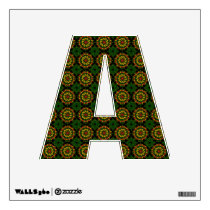 Green Paisley Pattern   Letter A Wall Decal