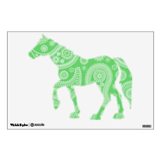 Green Paisley Pattern Wall Decal