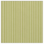 [ Thumbnail: Green & Pale Goldenrod Colored Lines Fabric ]