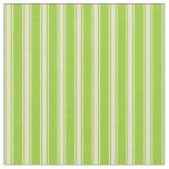 [ Thumbnail: Green & Pale Goldenrod Colored Stripes Fabric ]