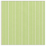 [ Thumbnail: Green & Pale Goldenrod Lined Pattern Fabric ]