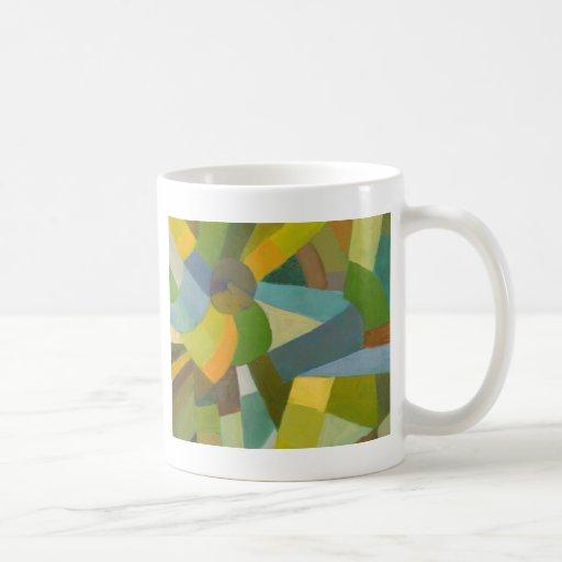 Green palette classic white coffee mug