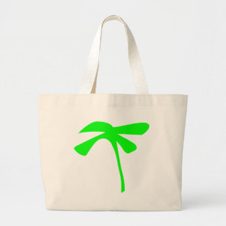 green palm icon large tote bag