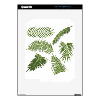 Green Palm Leaves Decals For The iPad 2