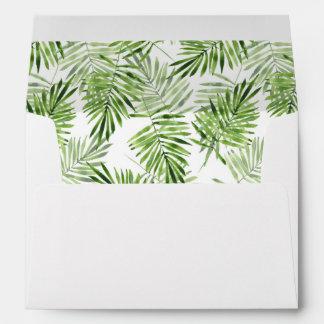 Green Palm Leaves Envelope