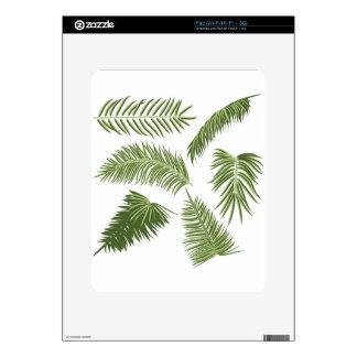 Green Palm Leaves iPad Skins