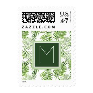 Green Palm Leaves | Monogram Stamp