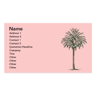 Green Palm Tree Double-Sided Standard Business Cards (Pack Of 100)