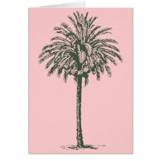 Green Palm Tree Card